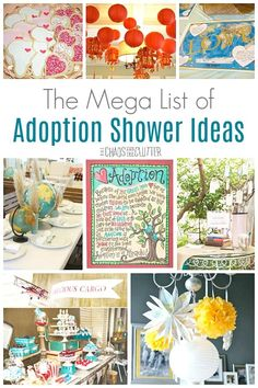 These adoption shower themes include ideas for babies, older children, international, and domestic adoption. Because every child deserves to be celebrated! Adoption Baby Shower, Adoption Day, Adoption Process, Adopting Older Children, Adopting A Child, Foster Care Adoption, Foster To Adopt, Foster Baby