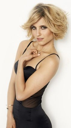 Dianna Agron. This is the hairstyle that I have now, at least, I attempted to have it...of course her's looks better.