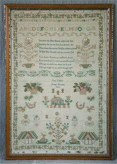 1824 Silkwork Sampler by Jane Roberts