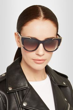 Thierry Lasry | Butterscotchy cat-eye acetate and metal sunglasses | NET-A-PORTER.COM