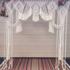 Macrame Wedding Backdrop, Wall Hanging / Window Hanging 'Wishing Well'