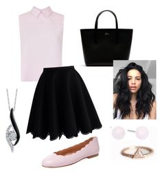 Pink & Black by liliana82203 on Polyvore featuring polyvore fashion style Victoria, Victoria Beckham Chicwish French Sole FS/NY Lacoste Sirena Michael Kors clothing