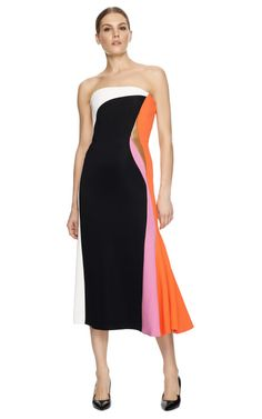 Working athletic-luxe to perfection, this Josh Goot dress features a flattering neoprene construction sharpened by strategic color blocking,...