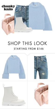 """""""chunky knits"""" by faye-valentine on Polyvore featuring Jil Sander, Levi's, Dr. Martens and Corto Moltedo"""