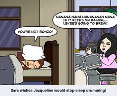 Sleep drumming, Bonzo Style!