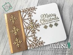 Stampin& Up! Snowflakes Sentiments & Swirly Snowflakes Bundle from Mitosu Cr. Stampin& Up! Snowflakes Sentiments & Swirly Snowflakes Bundle from Mitosu Crafts UK Diy Christmas Snowflakes, Christmas Cards 2017, Snowflake Craft, Snowflake Decorations, Christmas Card Crafts, Noel Christmas, Xmas Cards, Handmade Christmas, Holiday Cards
