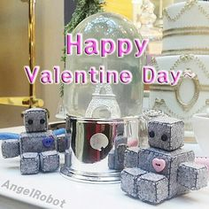 Happy Valentine Day with Angel Robot