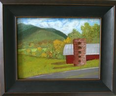 "Another view of the Warren Wilson College hay barn, oil on paper/panel, 9"" x 12"", 2014, in the collection of Mike Kenton."