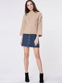 Crew Neck Plain Loose Fitting Sweater Only $16.95 USD More info...