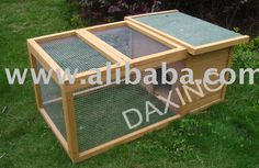 La jaula del conejo, casa del animal doméstico, conejera, casa del conejo, casa de los animales, la casa de aves de corral, al aire libre conejera, jaulas para el conejo
