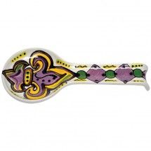 Mardi Gras Fleur De Lis Spoon Rest sold @King Hardware and Gifts