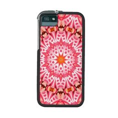 Pink heart pattern iPhone 5 cover