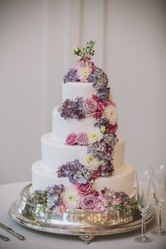 Cake Flowers Provided by May Flowers | Cake and Decor by Piece A Cake | Photo by Rich Smith Photography