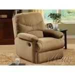 ACME Furniture - Arcadia Microfiber Glider Recliner in Light Brown - 00634   SPECIAL PRICE: $443.38