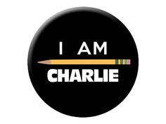 "I Am Charlie Pin - Je Suis Charlie Hebdo Large @.25"" Pinback Button or Badge by psychedelictara"