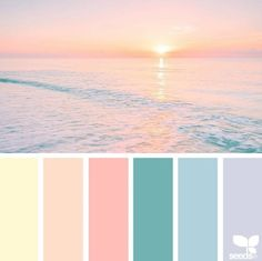 Heavenly hues palette design seeds, colour pallette и color