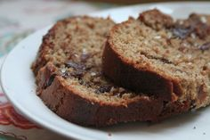 Chocolate Banana Almond Butter (or peanut butter) Bread (with Sea Salt!)