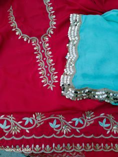 Embroidery Suits Design, Hand Work Embroidery, Embroidery Designs, Punjabi Suits Designer Boutique, Designer Salwar Suits, Punjabi Suits Party Wear, Cute Braided Hairstyles, Designer Party Wear Dresses, Work Suits