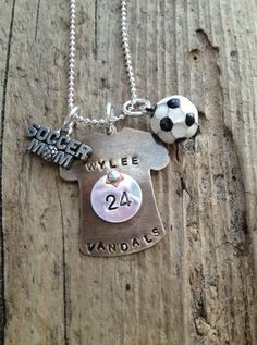 Soccer mom coach player necklace
