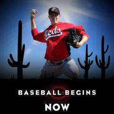 We have something wonderful to tell you.  Pitchers and catchers report today!   #ToddFrazier #FaceofMLB