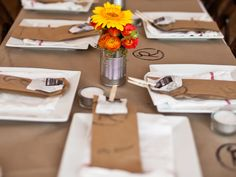 butcher paper on wedding table - Google Search