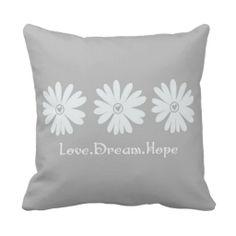 Inspirational Daisies Pillows
