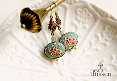 SPECIAL OFFER. Ready to ship. Sakura. Gorgeous handmade polymer clay earrings.