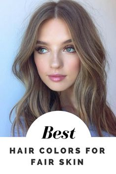 Seven hair color ideas for fair skin – Light and Dark Blondes, Browns, Striking Reds, Rose Gold, Black and Pastel shades, together with 35 hair color examples #fairskin #haircolor