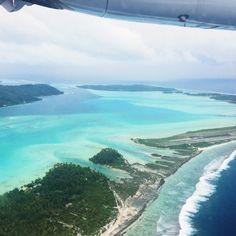 Flying into Bora Bora on Air Tahiti. Beach Hotels, Beach Resorts, Air Tahiti, Family Destinations, Spain Travel, Mexico Travel, Vintage Hawaii, Honolulu Hawaii, Vintage Travel Posters