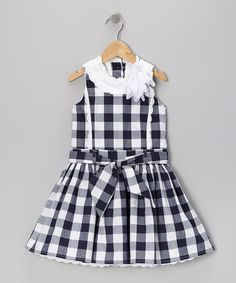 Take a look at this Blue & White Checkerboard Dress - Toddler & Girls by Trish Scully Child on #zulily today!