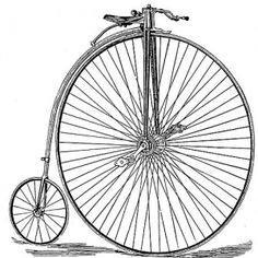 In the late 1800s, bicycle speed was directly related to the size of the front wheel. So, front wheels became increasingly larger until the penny-farthing, also known as the ordinary, entered the market in the 1870s. The penny-farthing got its name from the British currency of the time. It was thought that the large and small wheels next to each other resembled a penny next to the much smaller farthing.