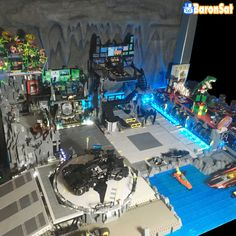 https://flic.kr/p/KX6cwa | Barcave Project 01 | Finally one big photo of the Batcave project, it's still in progress but not far from the end. In this diorama can you spot the model build by my customer and friend Vincent (the Batman enthusiast ) and the ones I build?  More informations here : www.flickr.com/photos/8107354@N03/41578228724/in/datepost...  There's a lot ot discover so if you have questions, you'll be welcome.   www.baronsat.net/