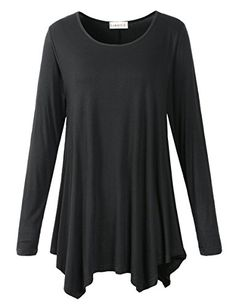 LARACE Womens Long Sleeve Flattering Comfy Tunic Loose Fit Flowy Top * Learn more by visiting the image link.