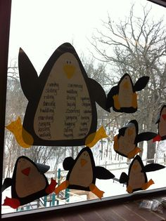 F is for First-grade Fun: penguin verbs