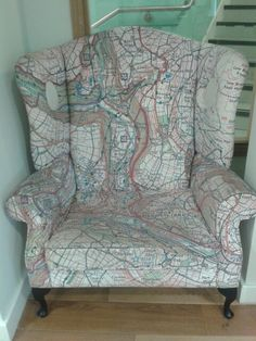 Map chair I love it!