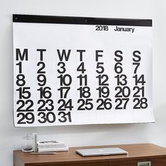Shop Stendig Calendar A design classic for a reason. Designed by Massimo Vignelli, the large-scale Stendig calendar has been a bold presence on walls for decades yet always looks fresh. Old Home Renovation, Unique Home Accessories, Home Remodeling Diy, Expensive Houses, Crate And Barrel, Home Accents, Wall Decor, Calendar 2017, Design