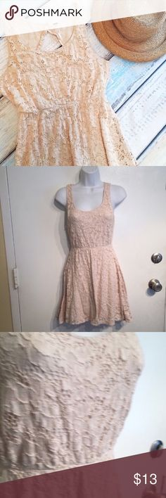 "🌟5 for $25🌟 FREE PEOPLE Lace Open Back Dress Free People Lined cream Lace dress with open back. Size small. Can be dressed up or down. Minor piling on lining but can't be seen while wearing. Could be worn in a cute Gypsy Boho fashion or styled for a sexy and flirty look. Measures 16.5"" flat from armpit to armpit and 32"" long. Does stretch. No modeling. Smoke free home. Everything in my closet is 5 for $25! Free People Dresses"
