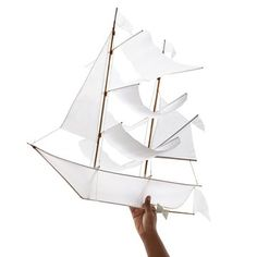 DIY kiteThis pirate ship inspired kite is handcrafted by Balinese artisans. It also makes a beautiful piece of nautical decor between flights. Bedroom Built Ins, Bunk Beds Built In, Diy Window Shades, Ideas Armario, Bateau Pirate, Building A Garage, Shed Storage, Backyard Storage, Storage Ideas