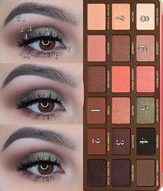Too Faced Peach Palette look – doriane renouard – - makeup Peach Pallette, Peach Palette Looks, Make Up Palette, Toofaced Peach Palette, Too Faced Eyeshadow, Peach Eyeshadow, Too Faced Makeup, Make Makeup, Eye Makeup Steps