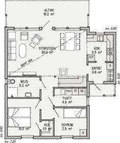 Sommen 99 | Ett bättre boende. Arkitektritade hus, bygga fritidshus | VärsåsVillan Home Fashion, House Plans, Villa, Floor Plans, House Design, Flooring, Small Houses, How To Plan, House Styles