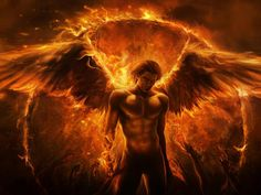 Image detail for -art imaliea man angel fire wings arms fantasy | HD Wallpapers