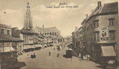 1920. Grote markt met paardentram