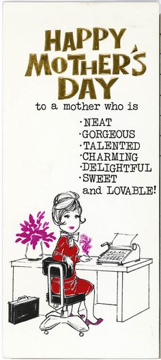 Image result for Mothers day cards from the 1980s