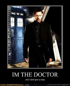 Hugh Laurie & Dr. Who.. what else does one need?