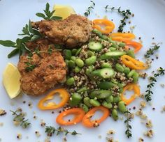 Wild Cod Pané Quinoa sauté with Asparagus Edamame and Sweet Chili and like so much from my garden The Lemon Thyme and Fresh Oregano  #luchiacookbook is on Amazon.com  #luchiachia #chef #chefslife #chefconsultant #chefofinstagram #cooking with Natural Ingredients #organic to be #healthy #healthylifestyle #healthyfood #healthyeating #healthylife #healthyliving #beautiful #delicious #deliciousfood #foodblogger #foodmagazine #foodie #foodiegram #siliconvalley #stanford #bayarea #sanfrancisco…