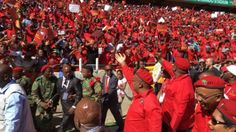 Julius malema, the leader of South Africa's Economic Freedom Fighters movement has launched his party's campaign for the upcoming local elections, vowing to