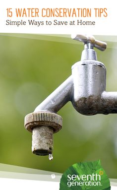 Easy conservation tips to helo you save water inside and outside of your home.
