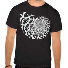 This paleontology shirt shows a swarm of Pterodactyls as Fractals!  Created by BCImages.