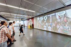 Gewista convierte una estación del Metro de Viena en un mundo digital