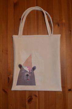 Bolso de cuero estampado Leather Bag, Reusable Tote Bags, Prints, Leather, Leather Satchel